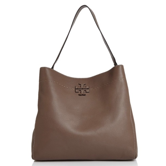 61af734c201aa Tory Burch Mcgraw Pebbled Leather Hobo Bag